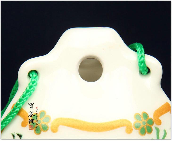 陶笛/绿色图案陶笛 乐器6孔中音C调贤笛水乡陶笛