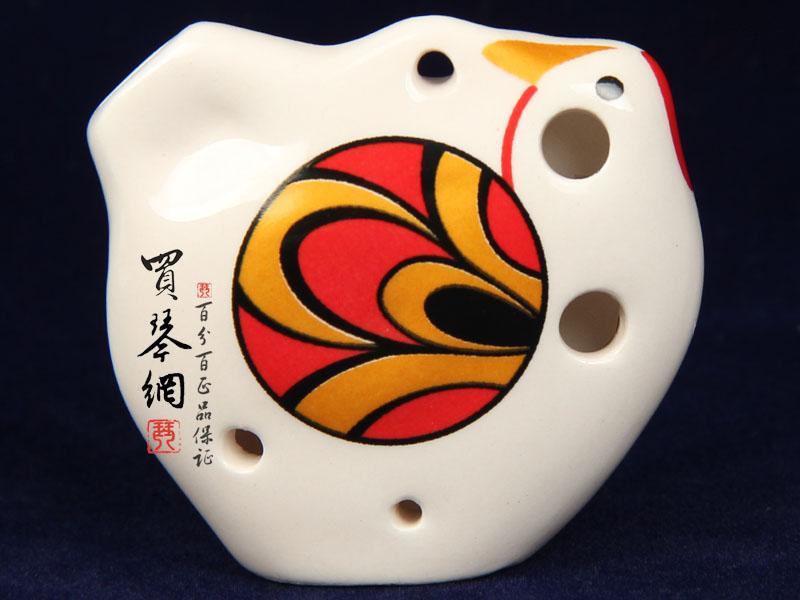 陶笛/陶笛 乐器6孔中音C调凤凰之凰瓷笛赠入门教材¥20元已售出:...